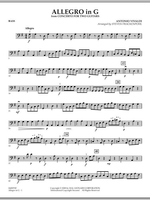 Allegro in G - Bass (Orchestra)