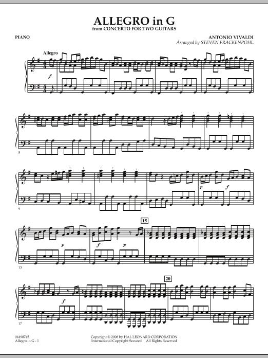 Allegro in G - Piano (Orchestra)