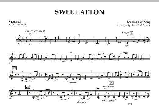 Sweet Afton - Violin 3 (Viola Treble Clef) (Orchestra)