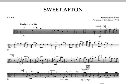Sweet Afton - Viola (Orchestra)