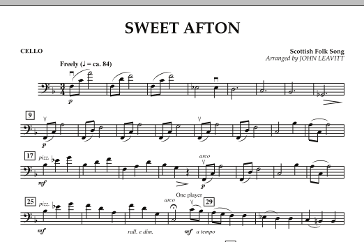 Sweet Afton - Cello (Orchestra)