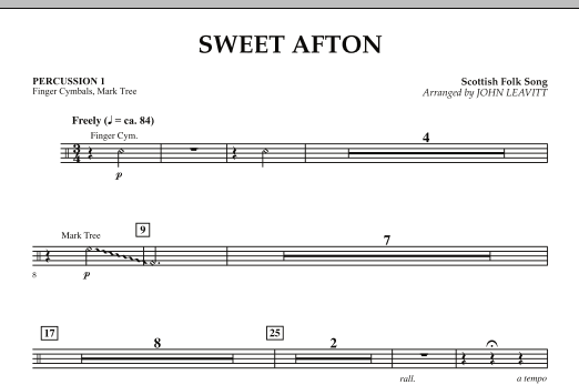 Sweet Afton - Percussion 1 (Orchestra)