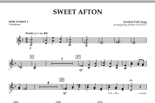Sweet Afton - Percussion 2 (Orchestra)