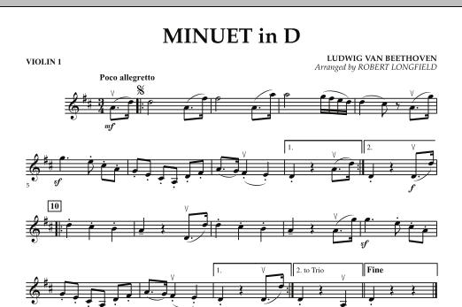 Minuet in D - Violin 1 (Orchestra)