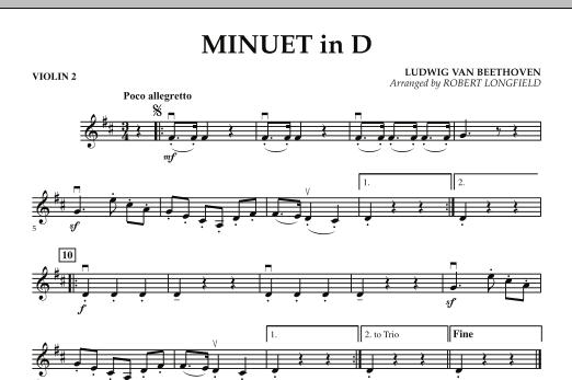 Minuet in D - Violin 2 (Orchestra)