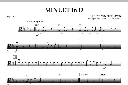 Minuet in D - Viola (Orchestra)