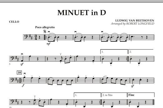 Minuet in D - Cello (Orchestra)