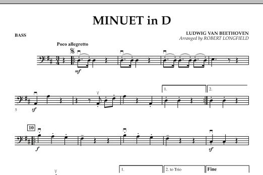 Minuet in D - Bass (Orchestra)