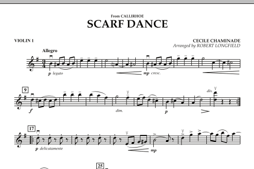 """Scarf Dance (from """"Callirhoe"""") - Violin 1 (Orchestra)"""