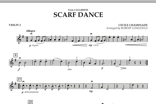 """Scarf Dance (from """"Callirhoe"""") - Violin 2 (Orchestra)"""