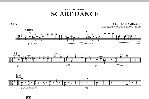 """Scarf Dance (from """"Callirhoe"""") - Viola (Orchestra)"""