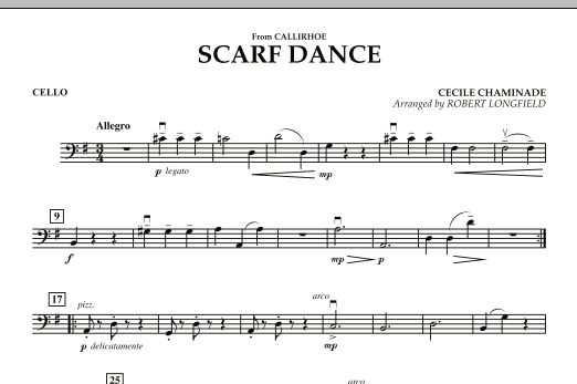 """Scarf Dance (from """"Callirhoe"""") - Cello (Orchestra)"""