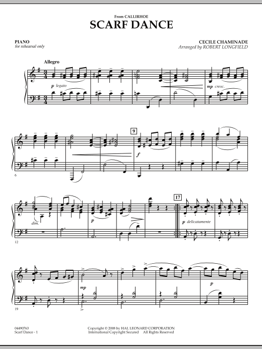 """Scarf Dance (from """"Callirhoe"""") - Piano (Orchestra)"""