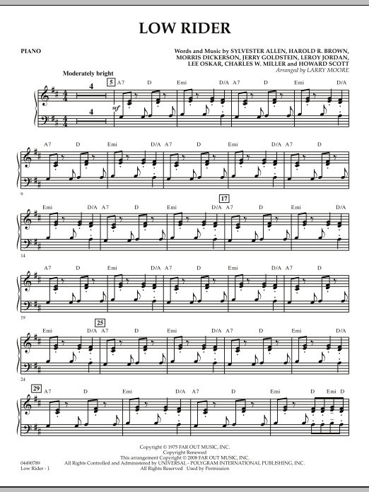 Low Rider - Piano (Orchestra)
