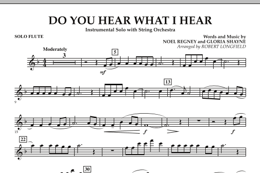 Do You Hear What I Hear - Solo Flute (Orchestra)