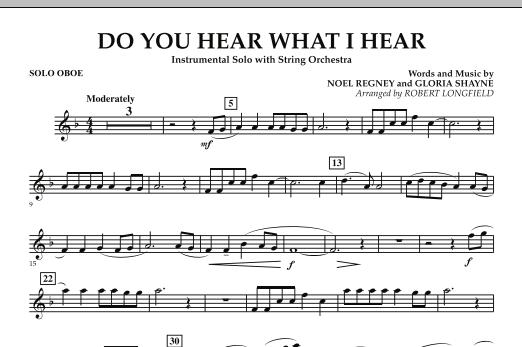 Do You Hear What I Hear - Solo Oboe (Orchestra)
