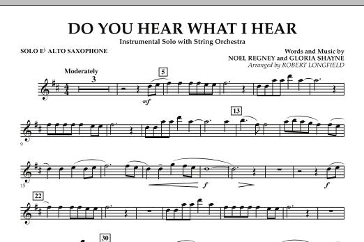 Do You Hear What I Hear - Solo Eb Alto Saxophone (Orchestra)