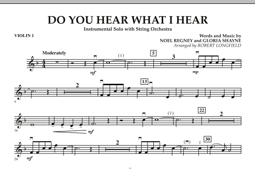 Do You Hear What I Hear - Violin 1 (Orchestra)