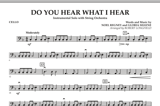Do You Hear What I Hear - Cello (Orchestra)