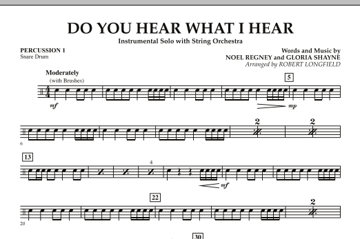 Do You Hear What I Hear - Percussion 1 (Orchestra)
