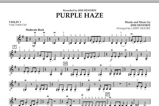 Purple Haze - Violin 3 (Viola Treble Clef) (Orchestra)