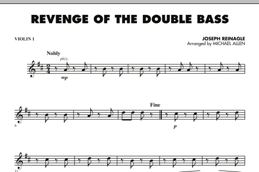 Revenge of the Double Bass - Violin 1 (Orchestra)