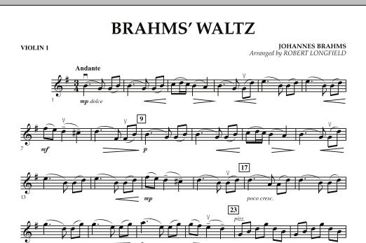 Brahms' Waltz - Violin 1 (Orchestra)