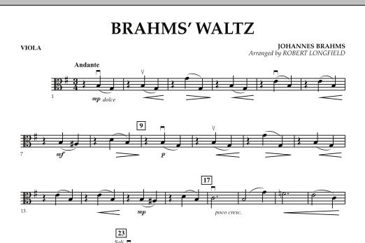 Brahms' Waltz - Viola (Orchestra)