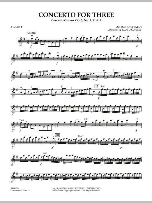 Concerto for Three - Violin 1 (Orchestra)