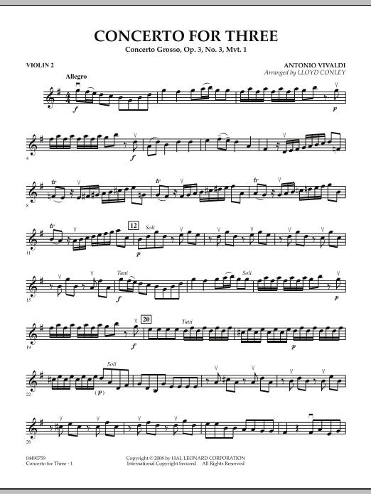 Concerto for Three - Violin 2 (Orchestra)