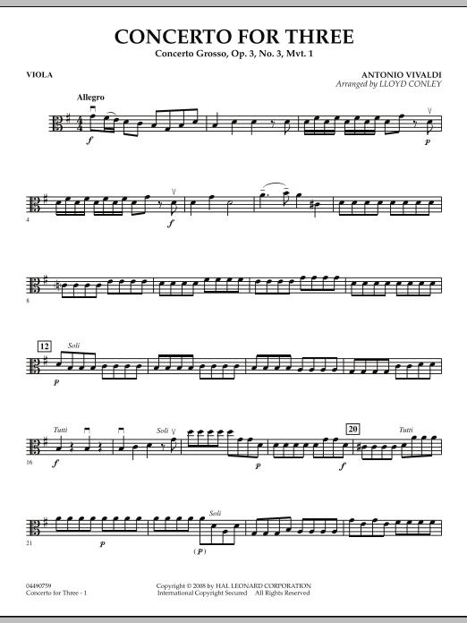 Concerto for Three - Viola (Orchestra)