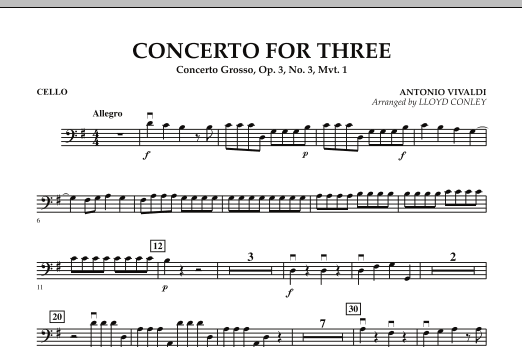 Concerto for Three - Cello (Orchestra)
