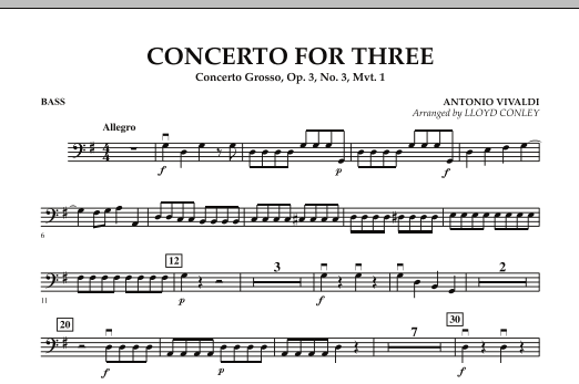 Concerto for Three - Bass (Orchestra)