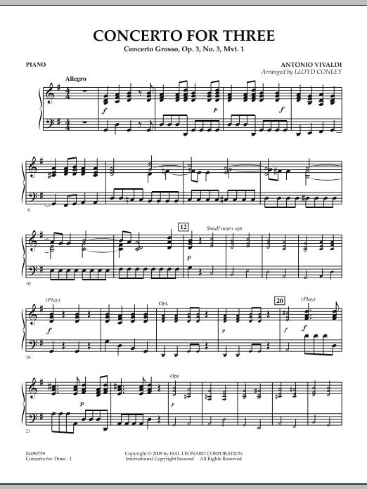 Concerto for Three - Piano (Orchestra)