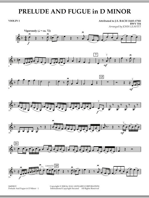 Prelude and Fugue in D Minor - Violin 1 (Orchestra)