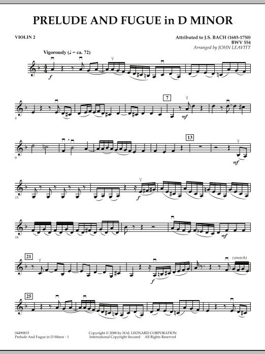 Prelude and Fugue in D Minor - Violin 2 (Orchestra)