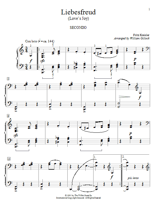 Liebesfreud Sheet Music