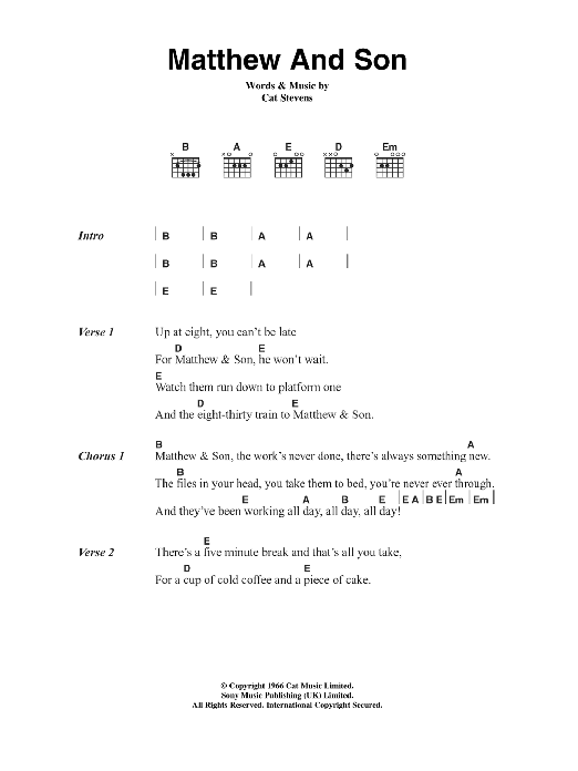 Pop Music - Guitar Chord at Stanton\'s Sheet Music