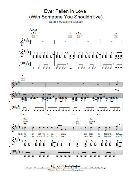 Ever Fallen In Love (With Someone You Shouldn't've) Sheet Music