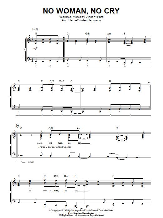 No Woman, No Cry (Easy Piano)