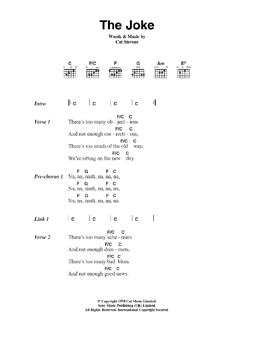 The Joke Sheet Music