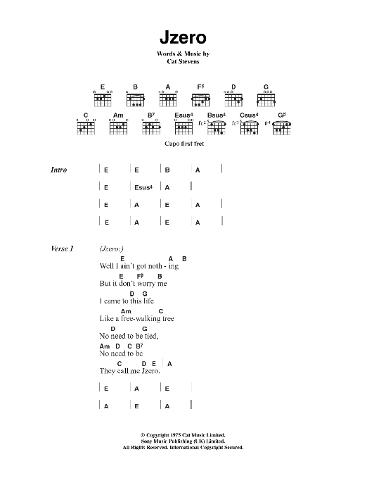Jzero Sheet Music