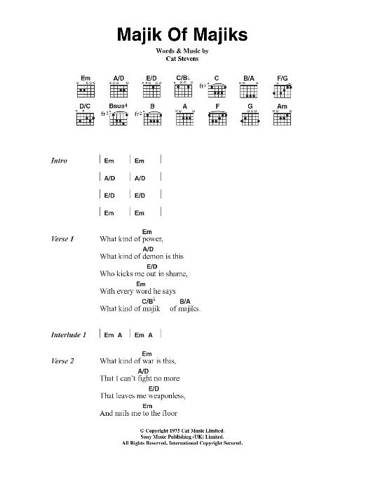 Majik Of Majiks Sheet Music