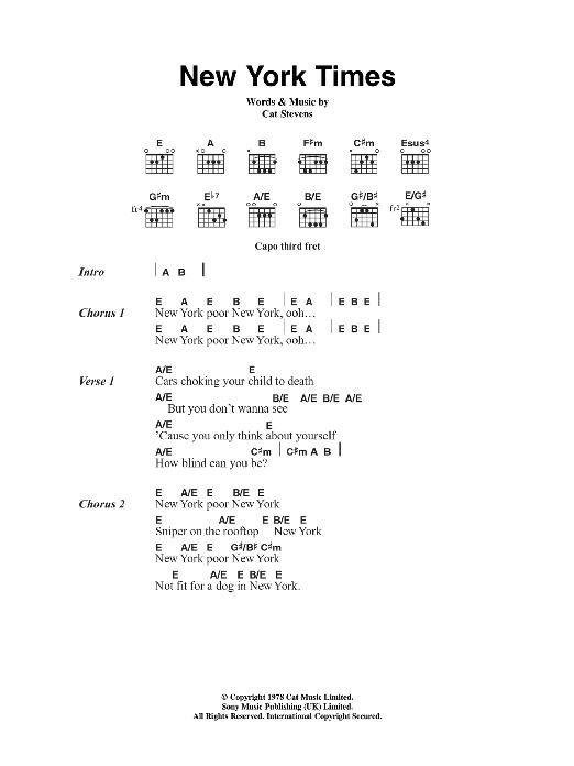 New York Times Sheet Music