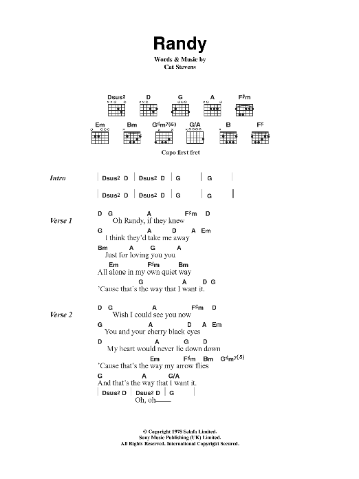 Randy Sheet Music