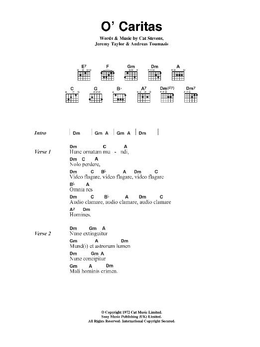 O' Caritas Sheet Music