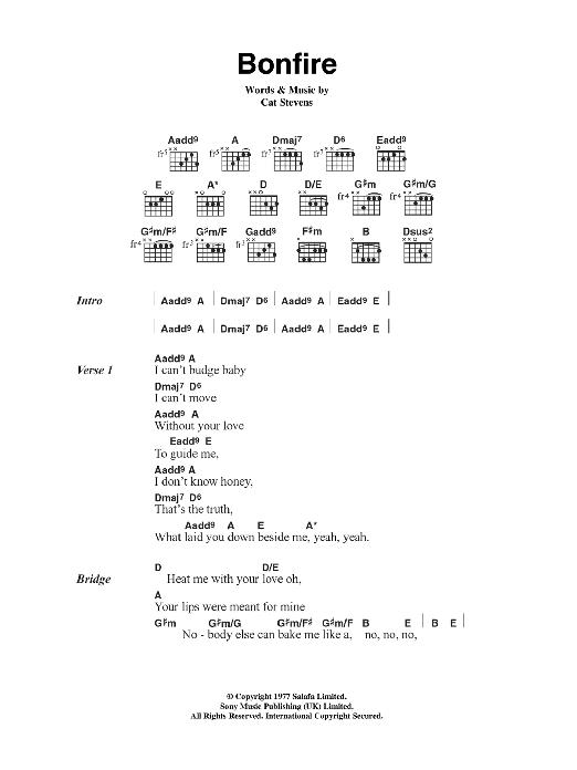 Bonfire Sheet Music