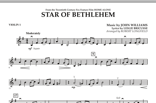 """Star of Bethlehem (from """"Home Alone"""") - Violin 1 (Orchestra)"""
