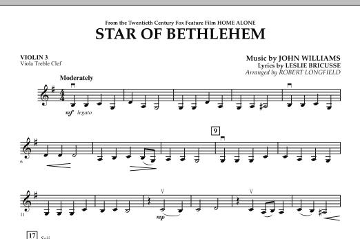 "Star of Bethlehem (from ""Home Alone"") - Violin 3 (Viola Treble Clef) (Orchestra)"