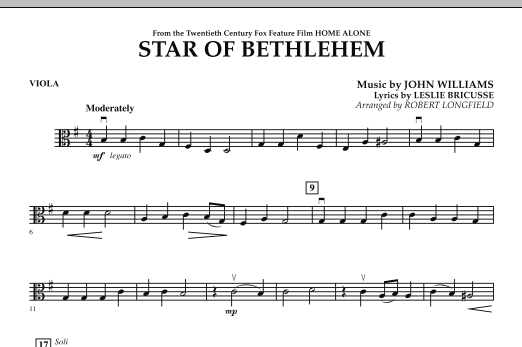 """Star of Bethlehem (from """"Home Alone"""") - Viola (Orchestra)"""